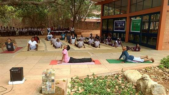 Yoga class at NESS school (photo by NESS)